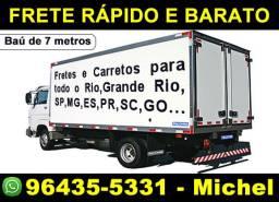 Mudanças Rio e Grande Rio / Caminhão baú de 6 metros (grande) 3x no cartão