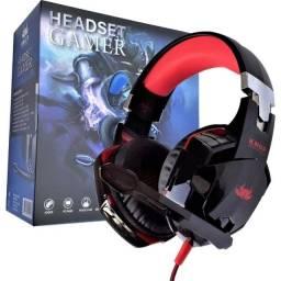 Headset Gamer com LED Luminoso Knup Pro Gaming Gears