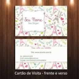 Cartão 300 gramas impresso frente e verso