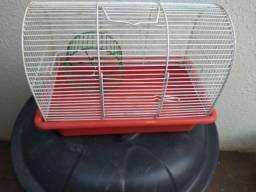 Gaiola para hamster com rodinha fixa