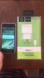 iPhone 5c 16gb (botão home não pega) PRA SAIR HOJE!! esta novinho