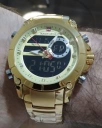 Relógio Naviforce Aço Inox - Top Luxo