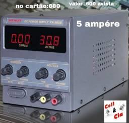 Fonte de bancada 305D 5 ampére produto novo lácrado