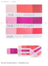 Kit tecidos novos para análise de coloração pessoal (temperatura e estações)
