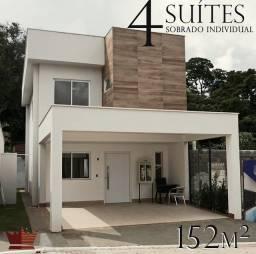 Casa 4 quartos suites sobrado Condominio fechado