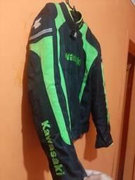 Jaqueta de motoqueiro da kawasaki