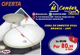 Cuba De Embutir Oval branca