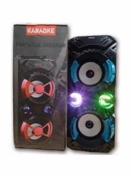 Caixa Som Amplificada Portatil Luz De Bluetooth Kts-942b