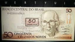 NCz$ 50 = Cr$ 50 (carimbo)