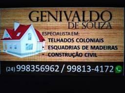 Especialista em telhado colonial (orçamento grátis), BM/VR/Resende