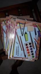 Vendo 9 cadernos de desenho