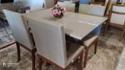 Título do anúncio: Mesa  pintura laka e madeira modale de 4 lugares nova completa