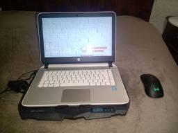 Vendo notebook i7 quarta geração com 8gb de ram e sdd, mouse gamer sem fio e messa cooler