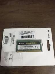 Memória RAM Corsair 4GB 1600Mhz DDR3 NOVA para notebook
