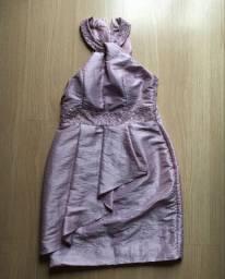 Vestido de festa tafetá