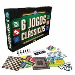 Kit 6 jogos clássicos pais e filhos