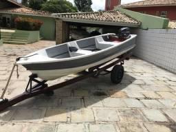 Barco Mistral+motor Yamaha 15 hp+carretinha