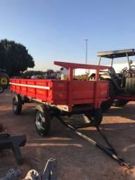 Título do anúncio: Carreta Agrícola 4 rodas - 6 toneladas - Seminova - vermelha