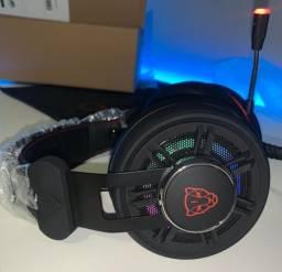 Fone Headset Gamer Motospeed - RGB, USB, praticamente novo, usado pouquíssimas vezes.