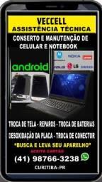 Troca de Tela, Conserto e Manutenção de Notebook  e Celular