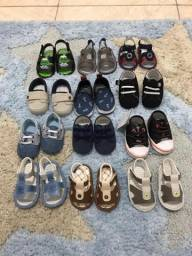Lote de 12 sapatinhos de bebê masculino