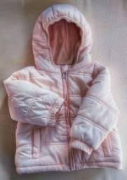 Casaco super quente tamanho 9 a 12 meses rosa clarinho