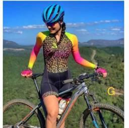 Macaquinho feminino de ciclismo 1ª linha G