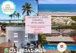 Praia da Pérola, 2 Quartos , varanda em 68m²- Ilhéus- Mega oportunidade