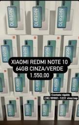 Xiaomi Note 10 64gb lacrado, tds cores,+ Brindes,Corre que acaba Rápido!!