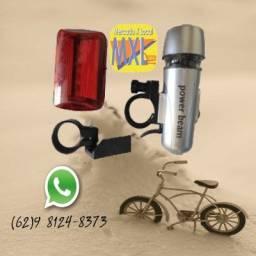 Sinalizador Farol e Lanterna Bike Bicicleta