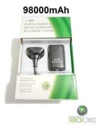 Bateria + Cabo Carregador De Controle/ Xbox 360 9800