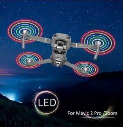 Par de Hélice para drone mavic 2 pro/ zoom com desenho de LED