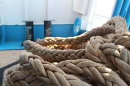 Cordas de navio de diversas espessuras