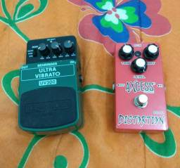 Pedais Distortion DS-101 & Ultra Vibrato UV300