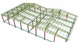 Projeto De Galpão Metalico Mezaninos Coberturas