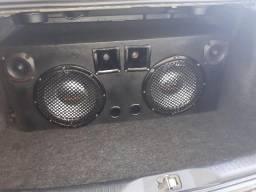 Som Automotivo Caixa de som + módulo + usina