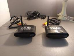 Transmissor De Áudio E Vídeo S/ Fio Iek C/extensor Controle