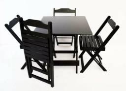 Conjunto mesa e cadeiras Dobráveis Produto novo