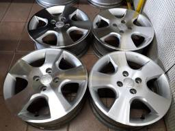 Rodas 15 Honda Fit diamantadas com cor grafite