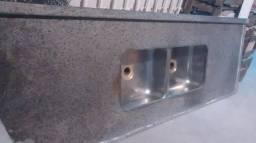 Pia de granito 2m - cuba dupla