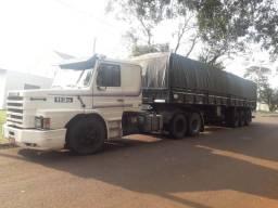 Scania T113 6x2 92 e carreta graneleira LS Guerra 99 financiado - 1992