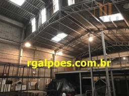 Galpão 650m², 5 salas, 6 banheiros, elevador industrial e recepção