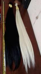 Cabelo 68cm loiro e Castanho escuro