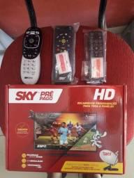Controle sky original hd e digital cabo hmi cabo de rede sky pre pago sem estalaçao