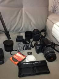 Câmera Sony Alpha DSLR-A230 e acessórios/vendo peças separadas também