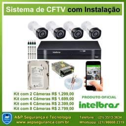 Câmeras segurança CFTV, cerca elétrica, interfone (Instalação, manutenção e venda)