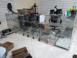 Balcão de vidro modular