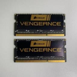 Memoria Notebook ddr3 kit 8G Corsair a mais rápida ddr3 do mercado.