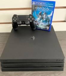 Playstation 4 Pro 1 terabyte 4K ( seminovo) com 1 jogo + Garantia