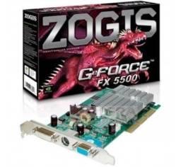 Placa De Vídeo Zogis Geforce Fx 5500 256mb Tv Dvi Agp8x